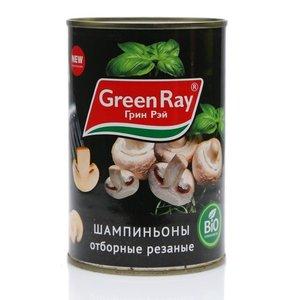 Шампиньоны отборные резаные ТМ Green Ray (Грин Рэй)