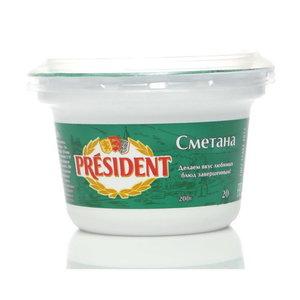 Сметана 20% ТМ President (Президент)
