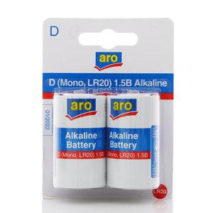 Батарейки D ТМ Aro (Аро), 2 шт