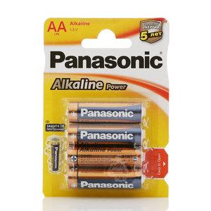 Батарейки АА Alkaline Power ТМ Panasonic (Панасоник), 4 шт