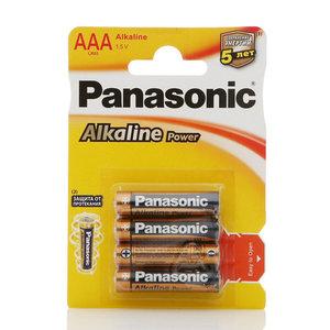 Батарейки ААА Alkaline Power ТМ Panasonic (Панасоник), 4 шт