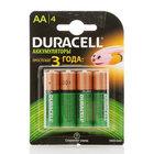 Батарейки-аккумуляторы  АА 1300 mah ТМ Duracell (Дюрасел), 4 шт