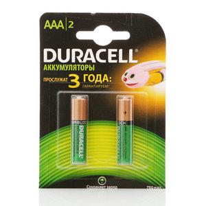 Батарейки-аккумуляторы  ААA 750 mah ТМ Duracell (Дюрасел), 2 шт