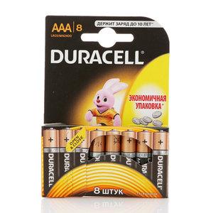 Батарейки ААА ТМ Duracell (Дюрасел), 8 шт