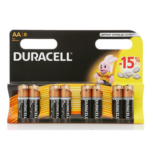 Батарейки АА ТМ Duracell (Дюрасел), 8 шт