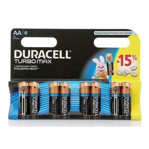 Батарейки Turbo Max АА ТМ Duracell (Дюрасел), 8 шт