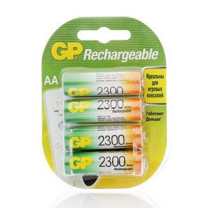 Аккумуляторные батарейки АА 2300 ТМ GP Rechargeable (Ричэрджебл), 4 шт