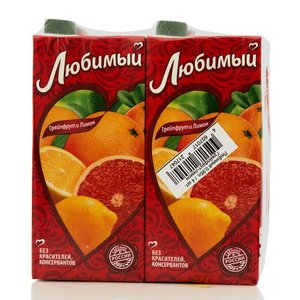 Нектар грейпфрутово-лимонный ТМ Любимый, 4*900мл