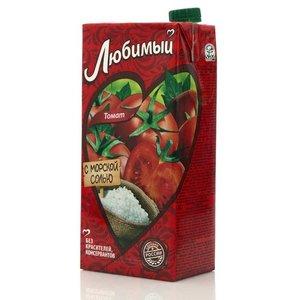 Сок томатный с солью и сахаром ТМ Любимый