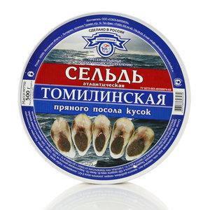 Томилинская сельдь атлантическая кусок пряного посола ТМ СБ