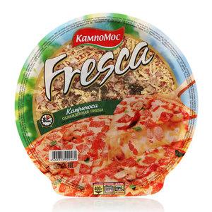 Пицца с сыром, ветчиной, шампиньонами и красным перцем Капричоса охлажденная ТМ КампоМос