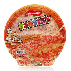 Пицца с сыром Гауда, Моцарелла и ветчиной Bambiny охлажденная ТМ КампоМос