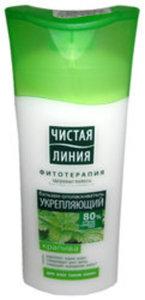 Бальзам-ополаскиватель для всех типов волос, укрепляющий ТМ Чистая линия Фитотерапия, крапива