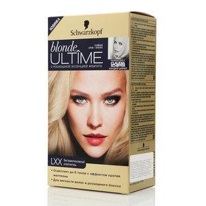 Стойкая крем-краска Blonde ultime (блонд ултайм) LXX экстраинтенсивный осветлитель ТМ Schwarzkopf & Henkel (Шварцкопф и Хенкель)
