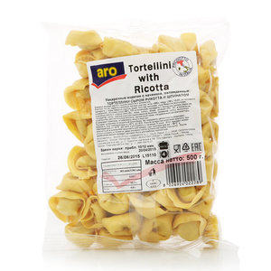 Макароны Тортеллини с сыром Рикотта и шпинатом Tortellini with Ricotta, ТМ Aro (Аро)