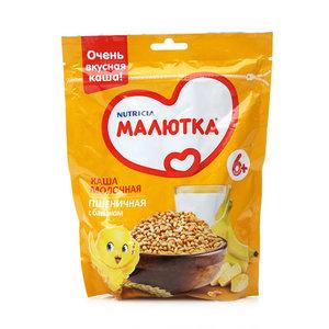 Каша молочная пшеничная с бананом ТМ Малютка