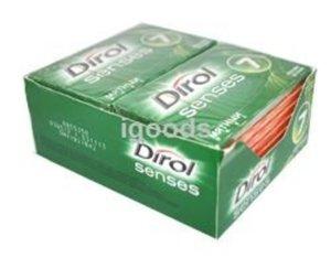 Жевательная резинка без сахара с мятным вкусом 16 пачек ТМ Dirol Senses (Дирол Сенсис)