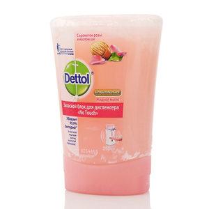 Жидкое мыло антибактериальное с ароматом розы и маслом ши ТM Dettol (Детол). Запасной блок для диспенсера No Touch