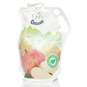 Йогурт с яблоком и грушей 1,5% ТМ Снежок