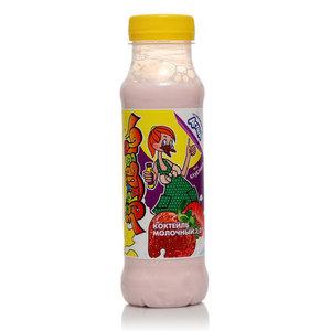 Коктейль молочный ультрапастеризованный ароматизированный вкус Клубника 3,2% ТМ Здрайверы