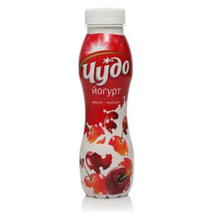 Йогурт питьевой с вишней и черешней 2,4% ТМ Чудо