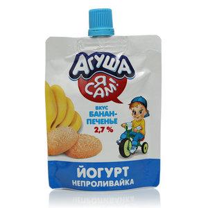Йогурт банан с печеньем ТМ Агуша Я сам!