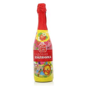Напиток сокосодержащий фруктово-ягодный газированный яблочно-земляничный Садовая земляника ТМ Fine Life (Файн Лайф)