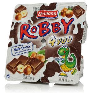 Десерт сливочно-молочный 5,7% 4*100г Робби для тебя шоколадно-ореховый ТМ Ehrmann (Эрманн)
