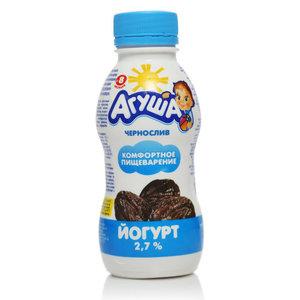 Йогурт с черносливом 2,7% ТМ Агуша