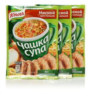 Суп мясной с лапшой Чашка супа ТМ Knorr (Кнорр) 3*14г