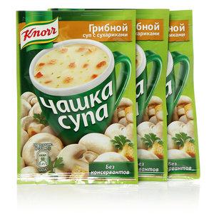 Суп грибной с сухариками Чашка супа ТМ Knorr (Кнорр) 3*16г