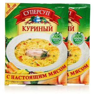 Суп куриный ТМ Суперсуп 2*70г