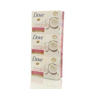 Крем-мыло Кокосовое молочко, лепестки жасмина ТМ Dove (Дав), 3*135г
