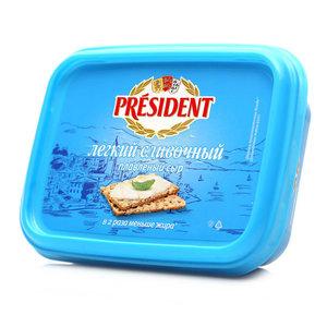 Сыр плавленый легкий сливочный ТМ President (Президент)