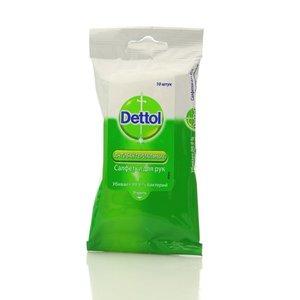 Антибактериальные салфетки для рук ТМ Dettol (деттол), 10 шт.