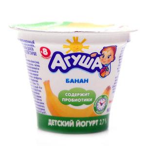 Йогурт банан с пробиотиками 2,7% ТМ Агуша