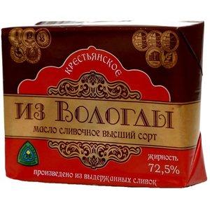 Масло сливочное Крестьянское 72,5% ТМ Из Вологды