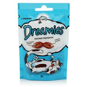 Корм сухой лакомые подушечки с лососем ТМ Dreamies (Дримис)