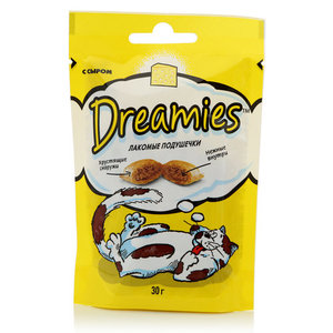 Корм сухой лакомые подушечки с сыром ТМ Dreamies (Дримис)