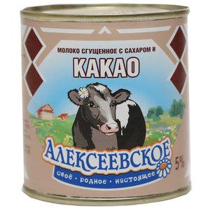 Молоко сгущенное с сахаром и какао 5% ТМ Алексеевское