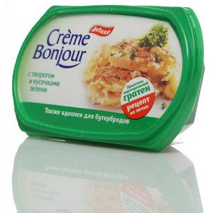 Крем на растительных маслах с творогом и кусочками зелени ТМ Creme Bonjour (Крем Бонжур)