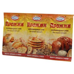 Дрожжи хлебопекарные сухие быстродействующие 3*12г ТМ Домашняя кухня
